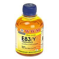 Чернила WWM Epson Stylus Photo P50, PX660, T50, TX650/700, R270/290, Yellow, 200 г, с повышенной светостойкостью (E83/Y)