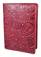 """Обложка для паспорта VIP (хамелеон красный) тиснение """"Турецкий орнамент"""", фото 1"""