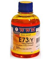 Чернила WWM Epson Stylus S22, SX125/130/230, T26/27, TX109/119, L100/200, Yellow, 200 г (E73/Y)