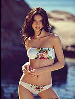 Нежный купальник с цветком бандо для модной девушки. Хорошее качество. Доступная цена. Дешево. Код: КГ750