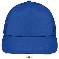 Бейсболка, кепка ярко-синяя \белая SOL'S SUNNY, Франция, 18 цветов, рекламные под нанесение логотипа