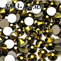 Стразы для дизайна ногтей  SS 3(1.3-1.5 мм)- цвет Золото