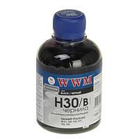 Чернила WWM HP 21/54/121/122/129/130/131/132/140/901, Black, 200 г (H30/B)