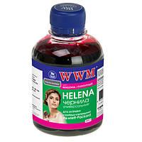 Чернила WWM HP Universal HELENA, 22/28/56/110/121/122/134/135/136/141/901, Magenta, 200 г (HU/M)