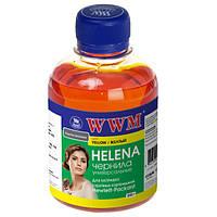 Чернила WWM HP Universal HELENA, 22/28/56/110/121/122/134/135/136/141/901, Yellow, 200 г (HU/Y)