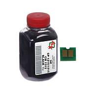 Тонер + чип HP CLJ 1215, Black, 55 г, АНК (1500130)