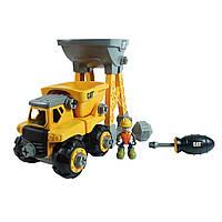 Развивающие и обучающие игрушки «Toy State» (80911) конструктор Самосвал и башня-погрузчик CAT Machine Maker