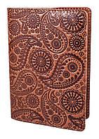 """Обложка для паспорта VIP (хамелеон коричневый) тиснение """"Турецкий орнамент"""""""