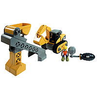 Развивающие и обучающие игрушки «Toy State» (80913) конструктор Экскаватор и конвейер-подъемник CAT Machine Maker