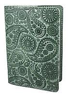 "Обложка для паспорта VIP (хамелеон зеленый) тиснение ""Турецкий орнамент"", фото 1"