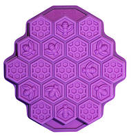 Форма силиконовая Hauser Пчелиные соты, противень 24х23см