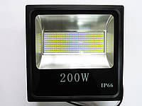 Светодиодный прожектор LED 200W Slim премиум SMD (черный)