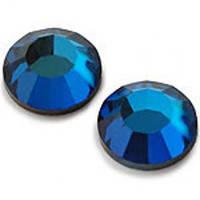 Камни Сваровски SS 3 синие Saphire, 100 шт