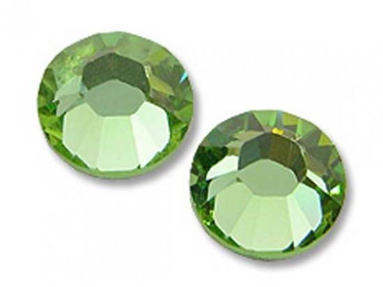 Камни Сваровски SS 3 Peridot зеленые, 100 шт