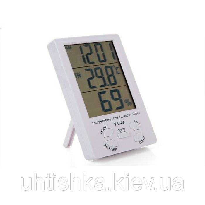 Цифровой термометр часы гигрометр ТА308