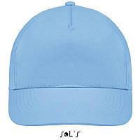 Бейсболка, кепка небесно-голубая SOL'S SUNNY, Франция, 18 цветов, рекламные под нанесение логотипа