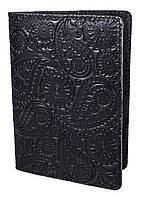 "Обложка для паспорта VIP (хамелеон серый) тиснение ""Турецкий орнамент"", фото 1"