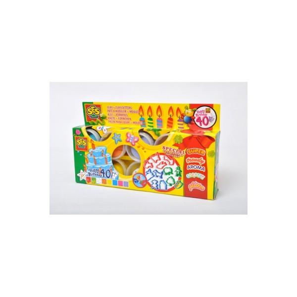 Набор для лепки- Праздничный (8 цветов, 12 форм)