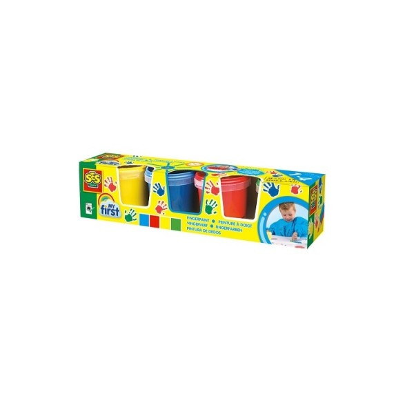 Пальчиковые краски - Юный художник (4 цвета, в пластиковых баночках)