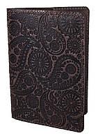"""Обложка для паспорта VIP (антик темный шоколад) тиснение """"Турецкий орнамент"""", фото 1"""