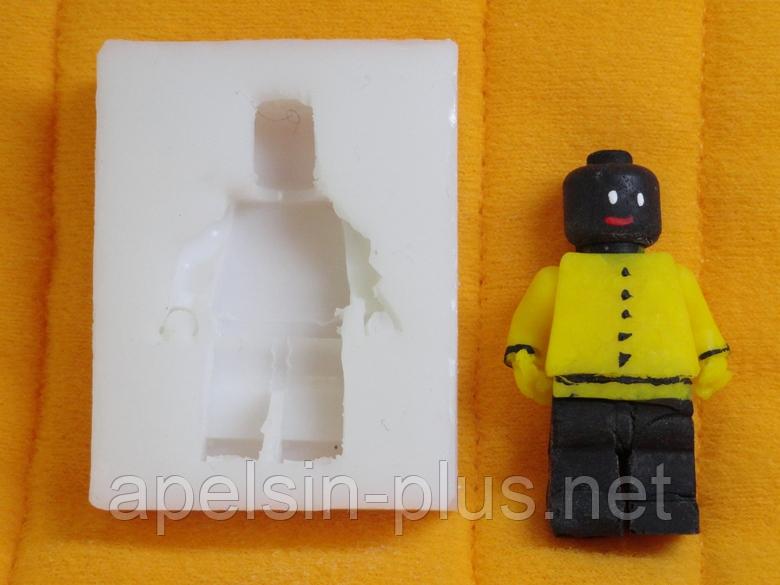 """Молд силиконовый """"Лего человечик"""" 4,7 см 3,7 см"""