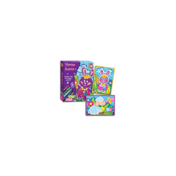 Набор для раскрашивания  Магия блеска  Сова VT4801-02 и Заяц VT4801-01