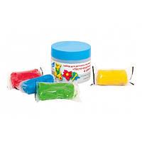 Мини набор для лепки Тесто-пластилин 4 цвета