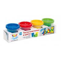 Тесто-пластилин мягкий 4 цвета по 50г