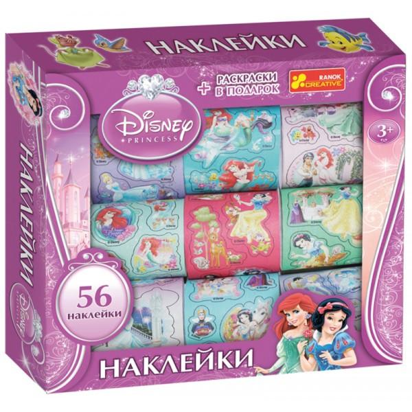 Наборы 60 наклеек в коробке Дисней Принцессы