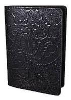 """Обложка для паспорта STANDART ( черный) тиснение """"Турецкий орнамент"""", фото 1"""
