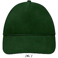 Бейсболка, кепка темно-зеленая SOL'S SUNNY, Франция, 18 цветов, рекламные под нанесение логотипа