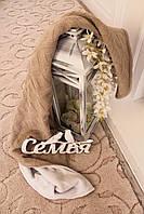 Мягкий вязаный плед в кроватку на флисовой подкладке