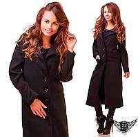 Женское пальто кашемировое на пуговичках   черное или бежевое  А1