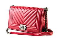 Сумка через плече Chanel красная
