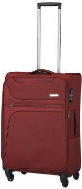 Тканевый средний чемодан 4-колесный 79/89 л. March Focus 2582/02, бордо