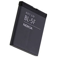 Аккумуляторная батарея ОРИГИНАЛЬНАЯ для Nokia E65, GRAND Premium Nokia BL-5F (1 год гарантии)
