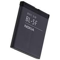 Аккумуляторная батарея ОРИГИНАЛЬНАЯ для Nokia 6260 slide, GRAND Premium Nokia BL-5F (1 год гарантии)
