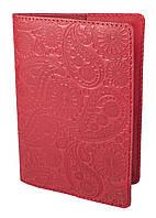"""Обложка для паспорта  STANDART ( красный) тиснение  """"Турецкий орнамент"""", фото 1"""