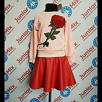 Детская кофта на девочку с вышитой розой HEPPY STAR ИТАЛИЯ