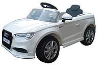 Легковой детский электромобиль WHITE Audi A3 WHITE T-795 с MP3 (114*64.5*52.5см)