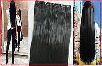 Волосы на КЛИПСАХ заколках,черные! №1 в НАЛИЧИИ! накладные пряди,Тресы,реальные фото!