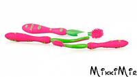 Набор зубных щеток Nuby (две для десен, одна для зубов) 6+, розовый, Nuby, розовая, Розовый