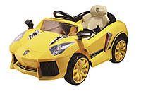 Легковой детский электромобиль T-765 YELLOW с MP3 108*68*53см