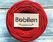 Трикотажная пряжа Bobilon Maxi (9-11мм). Красный мак, фото 2
