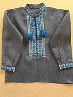 Вишита сорочка ручної роботи на комірець для хлопчика 1-2 роки, фото 1