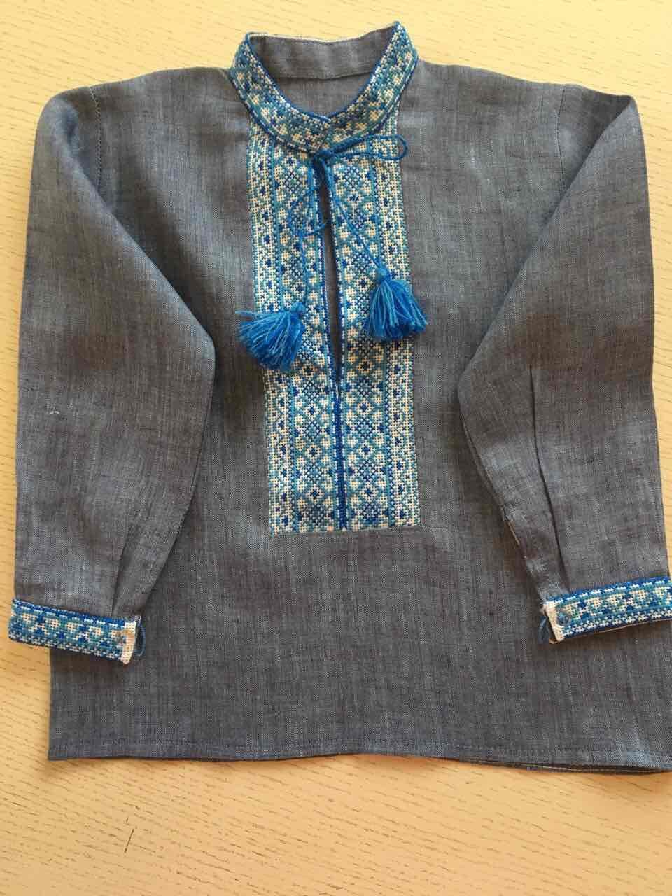 Вишита сорочка ручної роботи на комірець для хлопчика 1-2 роки ... 75f21e4d324ab