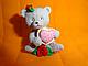 """Молд силиконовый """"Медвежонок Маша с сердечком""""  5 см 6,3 см, фото 3"""