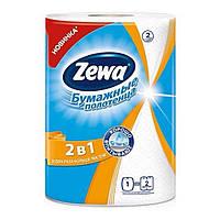 Бумажные полотенца Zewa 2 в 1 2-слойные, 1 рулон