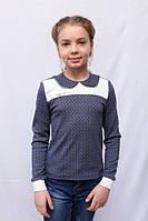 Оригинальная детская кофта-блузка синего цвета