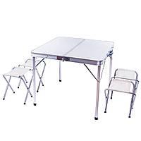 Набор мебели для пикника стол + 4 стула 80 х 80 х 70 см